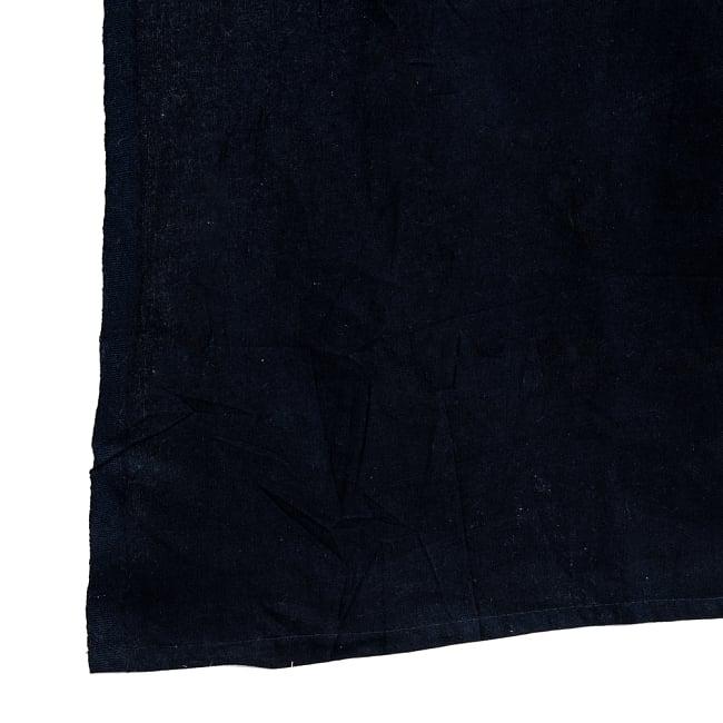 マルチクロス - モノトーン太極図マンダラ〔約224cm×約200cm〕 3 - 縁部分の写真です