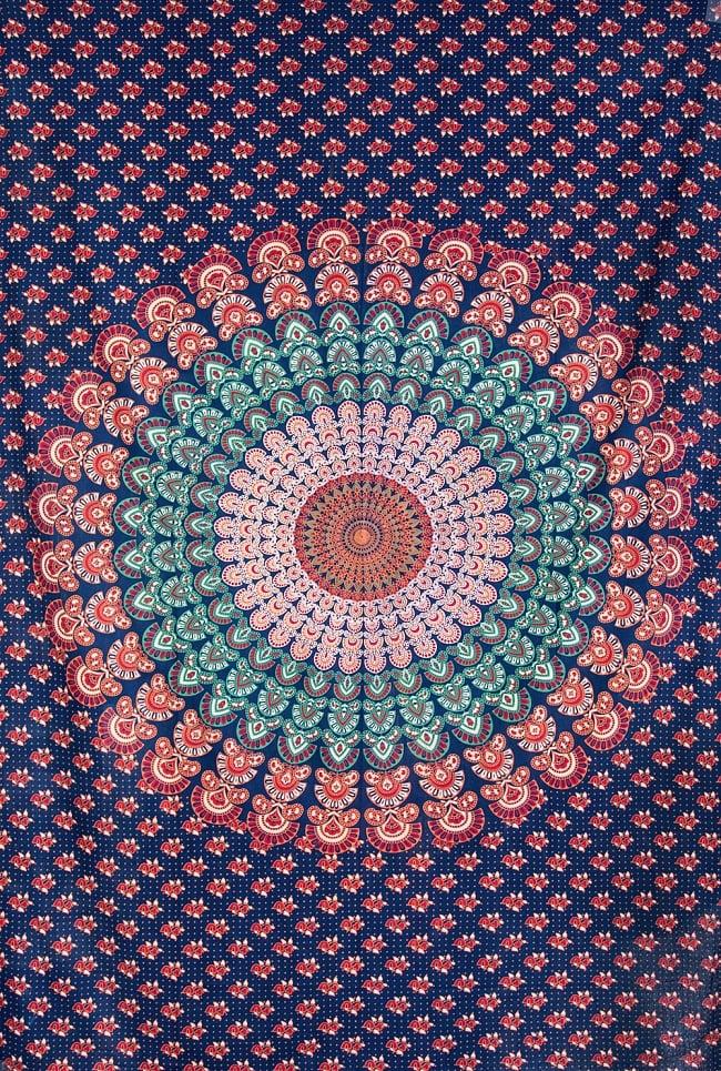 マルチクロス- ピーコックマンダラ【約205cm×約135cm】の写真