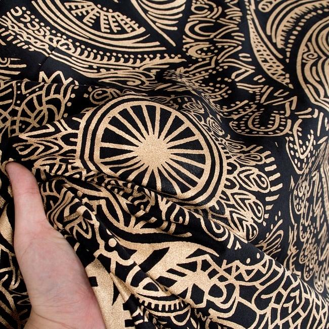 マルチクロス - ファーティマの手 ハムサ ゴールドラメ〔約226cm×約209cm〕 5 - とても雰囲気があります