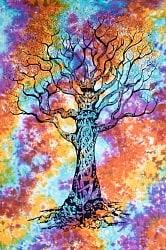 マルチクロス 生命の樹 タイダイホーリーカラー〔203cm×136cm〕
