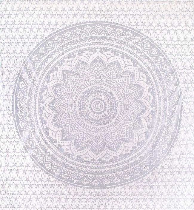 マルチクロス  シルバー&ゴールドラメマンダラ〔225cm×202cm〕の写真