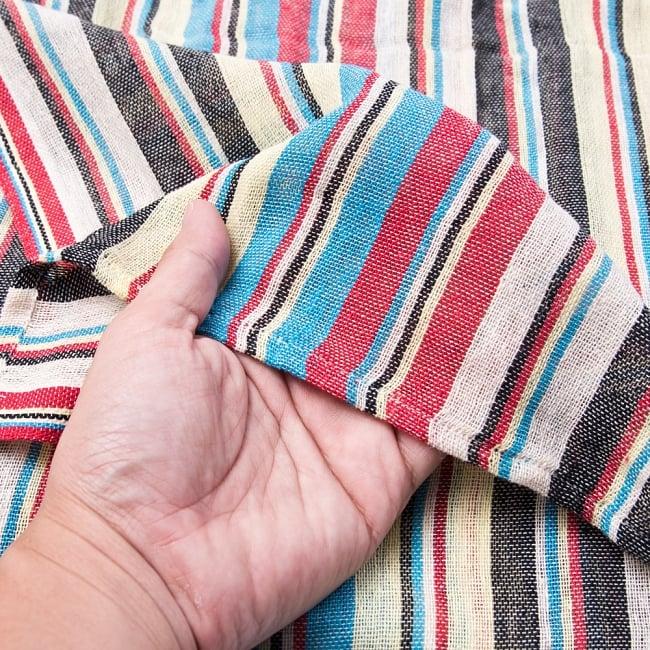 〔225cm×150cm〕柔らか手触りのイタワ織りマルチクロス - ブルー×レッド×イエロー 4 - 柔らかい手触りながらも強度を感じる厚みです。