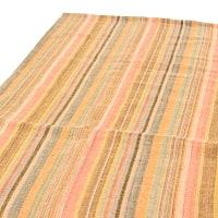 〔225cm×150cm〕柔らか手触りのイタワ織りマルチクロス - オレンジ