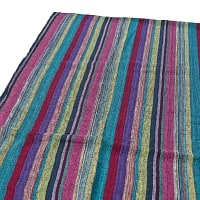 〔225cm×150cm〕柔らか手触りのイタワ織りマルチクロス - ディープグリーン