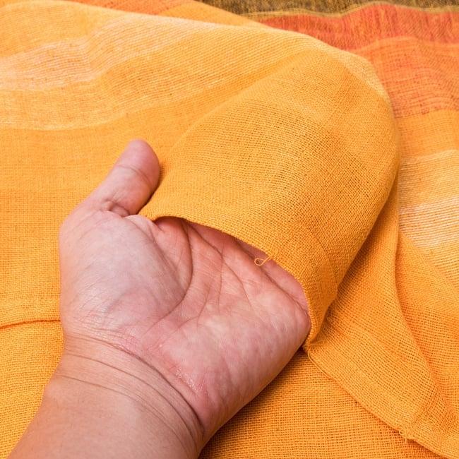 〔225cm×150cm〕柔らか手触りのイタワ織りマルチクロス - オレンジ 4 - 柔らかい手触りながらも強度を感じる厚みです。