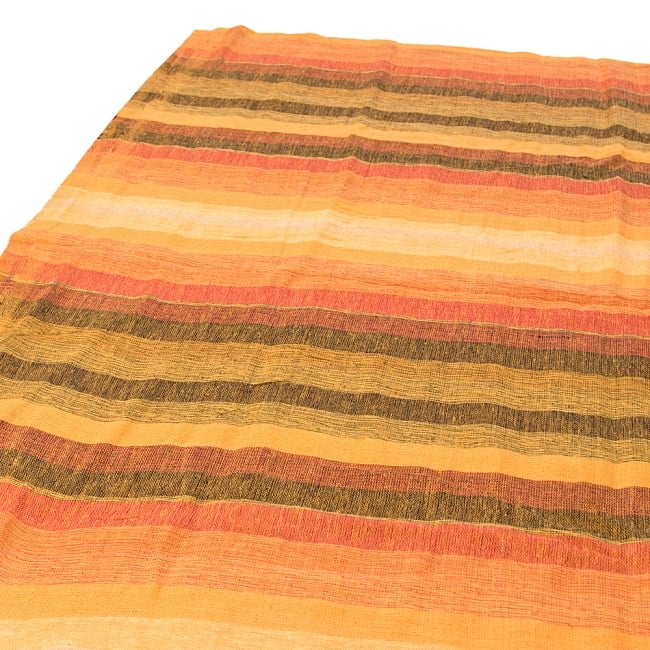 〔225cm×150cm〕柔らか手触りのイタワ織りマルチクロス - オレンジの写真
