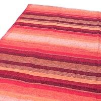 〔225cm×150cm〕柔らか手触りのイタワ織りマルチクロス - レッド