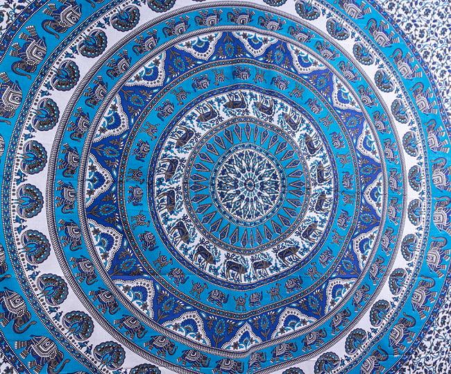 マルチクロス - マンダラ〔約211cm×約222cm〕 3 - 中心部の写真です