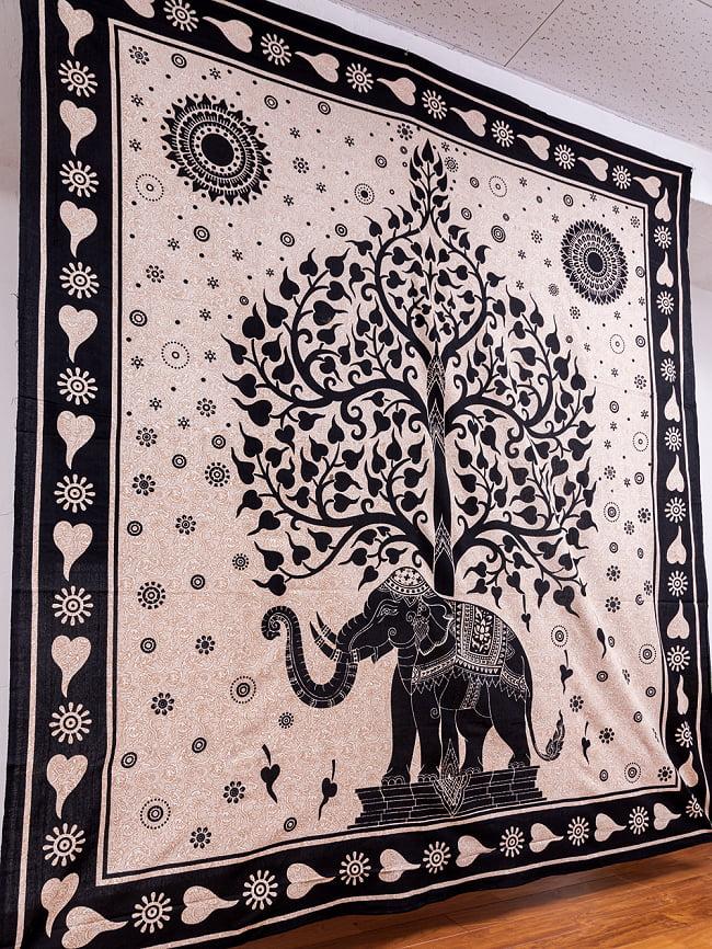 マルチクロス - 生命の樹 ナチュラルカラー〔約204cm×約221cm〕 2 - 横からの写真です