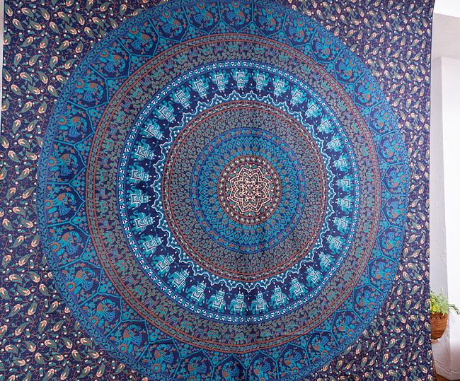マルチクロス - マンダラ〔約203cm×約224cm〕 3 - 中心部の写真です
