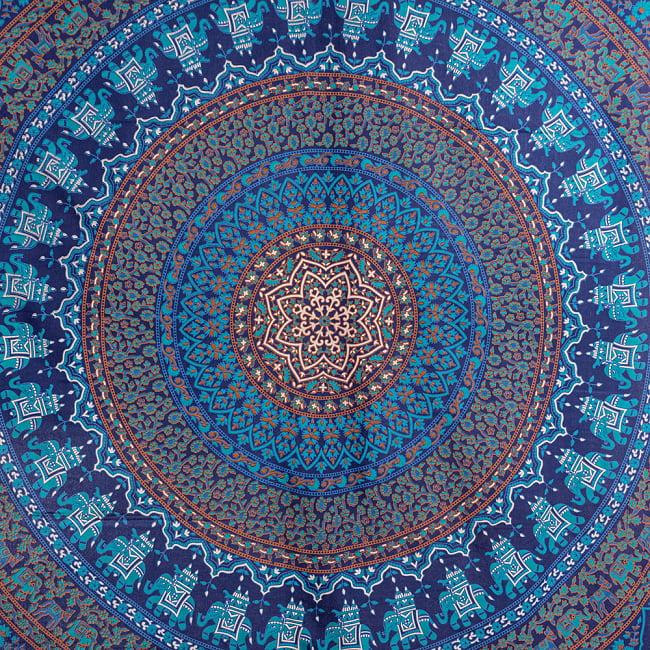 マルチクロス - マンダラ〔約203cm×約224cm〕 4 - 拡大写真です