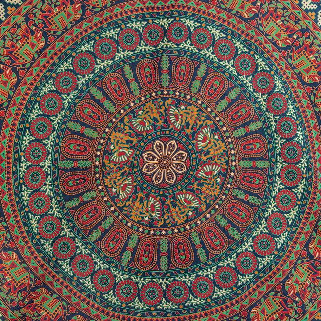 マルチクロス - マンダラ〔約206cm×約221cm〕 4 - 拡大写真です