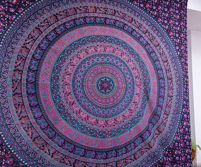 マルチクロス - マンダラ〔約206cm×約222cm〕 3 - 中心部の写真です