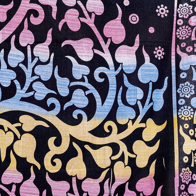 マルチクロス - 生命の樹 ブラシペイント〔約137cm×約192cm〕 5 - 細部の写真です