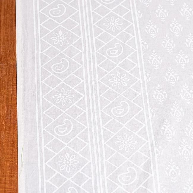 ジャイプル職人手作り サフェードのボタニカルデザイン インド伝統の木版染め更紗マルチクロス〔225cm×155cm〕ベッドカバーやソファーカバー パーテーションなどへ 4 - とても良い雰囲気です