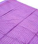 【ウッドブロック】カディコットン風マルチクロス - マルゴメ柄(紫)【240cm×150cm】