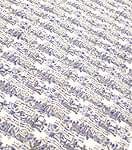 【ウッドブロック】カディコットン風マルチクロス - 物語柄(青紫×グレー系)【240cm×150cm】