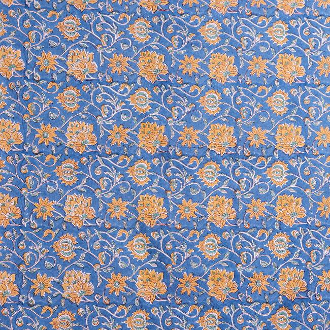 【自由に選べる3枚セット】ジャイプル職人手作り インド伝統の木版染め更紗マルチクロス〔225cm×155cm〕色彩豊かなボタニカルデザイン ベッドカバーやソファーカバー パーテーションなどへ 12 - 手作りの風合いが素敵です
