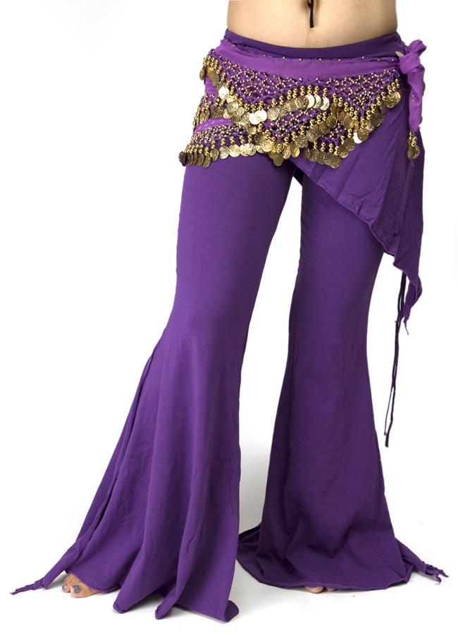 ストレッチ・トライバルパンツ - 紫の写真