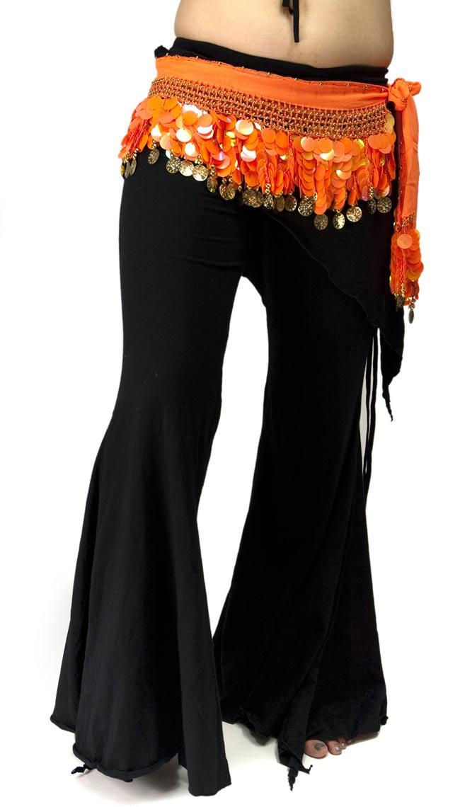 ベリーダンス スケール ヒップスカーフ - オレンジの写真