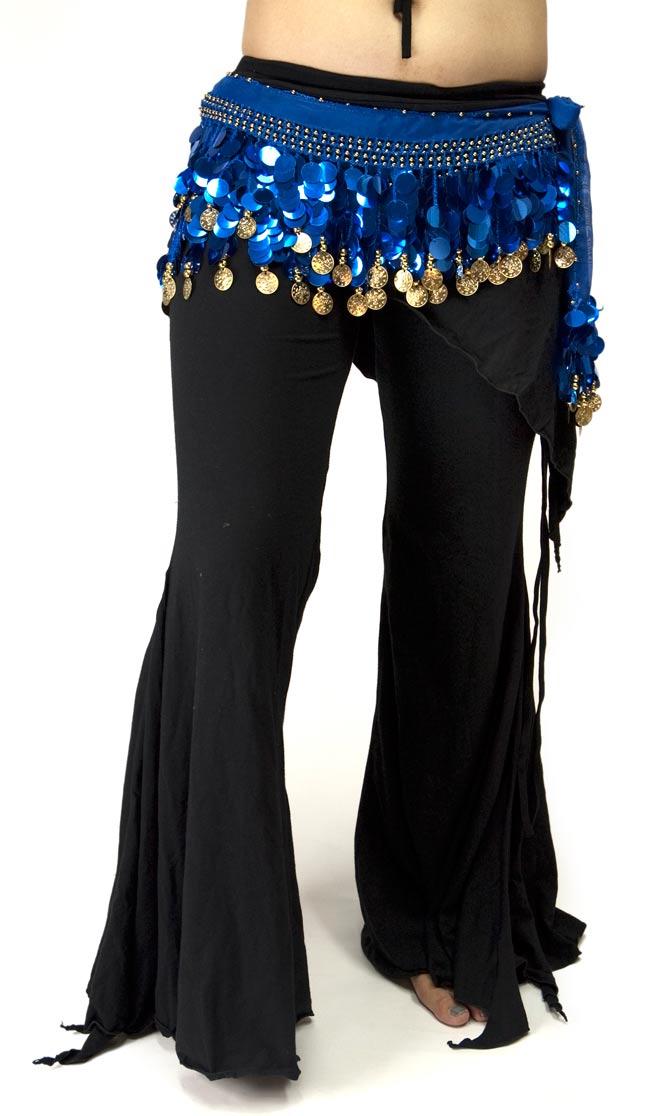 ベリーダンス スケール ヒップスカーフ - 青の写真
