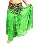 ベリーダンス用スパンコールスカート【ゴムタイプ】 - 緑