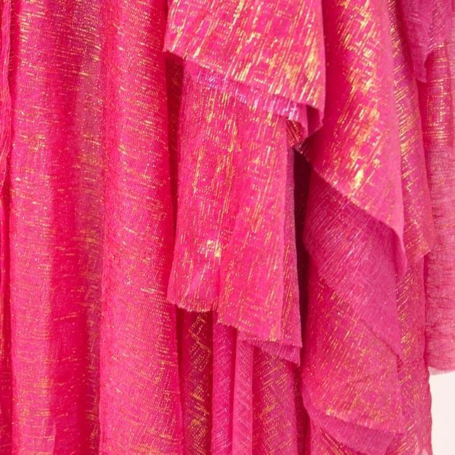 ベリーダンス衣装 スカート・ブラ 上下セット - 赤紫 4 - スカートを拡大してみました