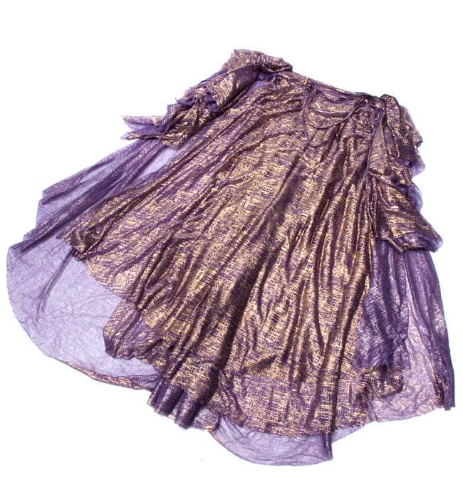 ベリーダンス衣装 スカート・ブラ 上下セット - 紫 10 -