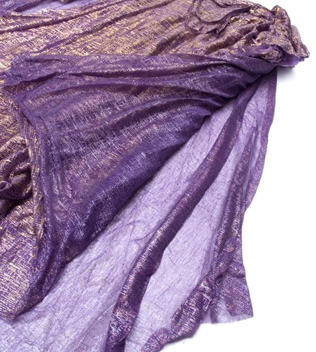 ベリーダンス衣装 スカート・ブラ 上下セット - 紫 12 -