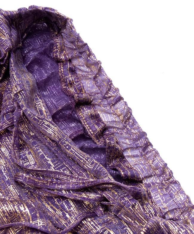 ベリーダンス衣装 スカート・ブラ 上下セット - 紫 13 -