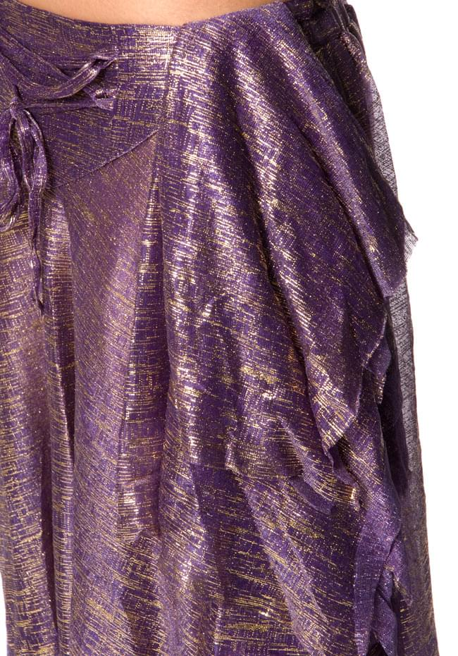ベリーダンス衣装 スカート・ブラ 上下セット - 紫 6 - スカートの拡大写真になります
