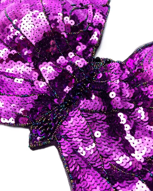 ベリーダンス衣装 スカート・ブラ 上下セット - 紫 9 -