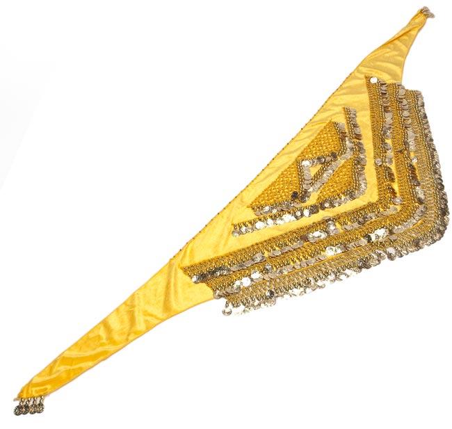 ベリーダンス ヴェルヴェット ヒップスカーフ - 黄色の写真