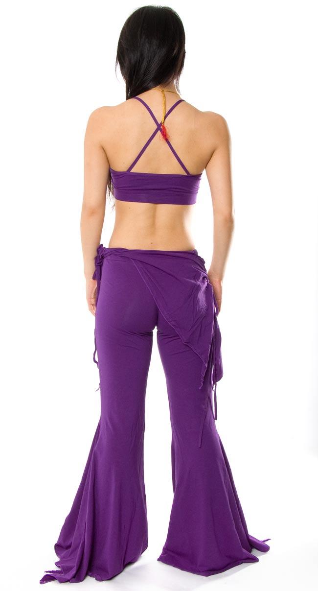 ベリーダンス ストレッチ レッスンウェア - 紫 2 - 背面はこんな感じです。