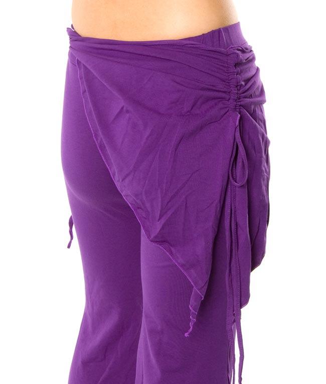 ベリーダンス ストレッチ レッスンウェア - 紫 4 - 腰の部分の装飾がかわいいですね。
