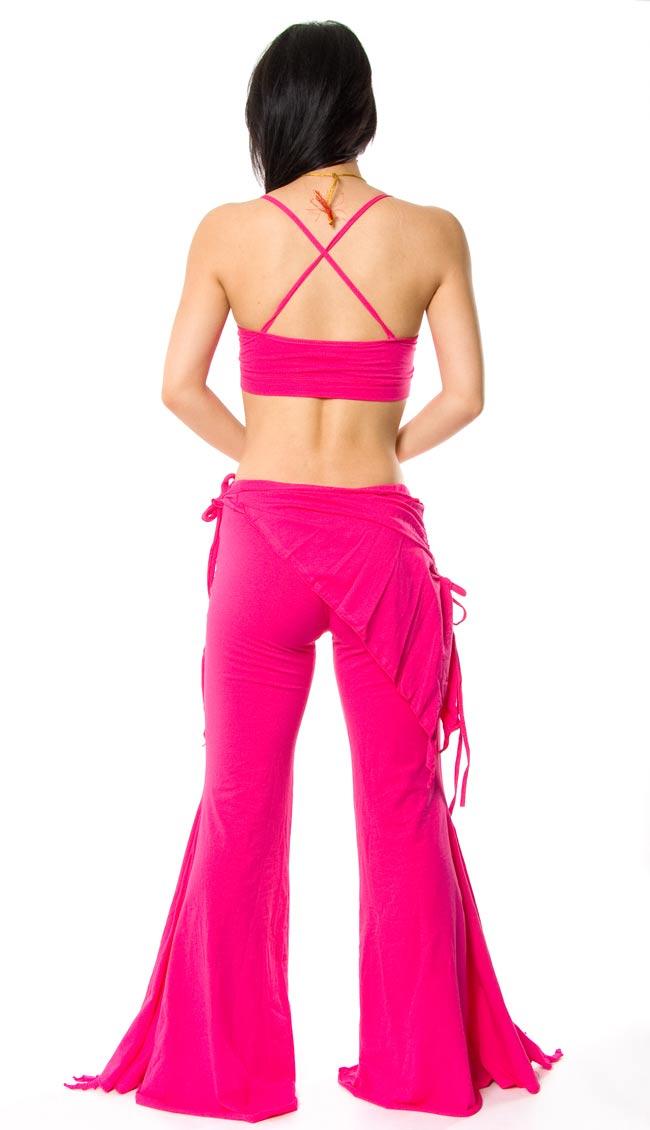 ベリーダンス ストレッチ レッスンウェア - ピンク 2 - 背面はこんな感じです。