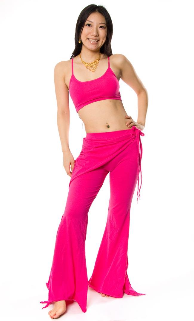 ベリーダンス ストレッチ レッスンウェア - ピンクの写真