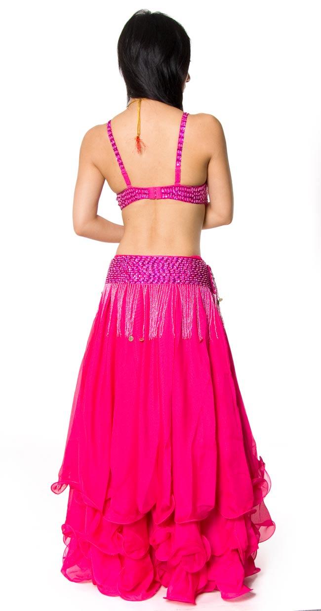 ベリーダンス衣装 フレアスカート・ブラ 上下セット -  2 - 後ろ側はこんな感じです