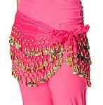 ベリーダンス ヒップスカーフ 150コイン - ピンク