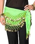 ベリーダンス ヒップスカーフ 150コイン - 緑