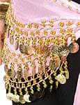 ベリーダンス ヒップスカーフ 150コイン - 淡いピンク