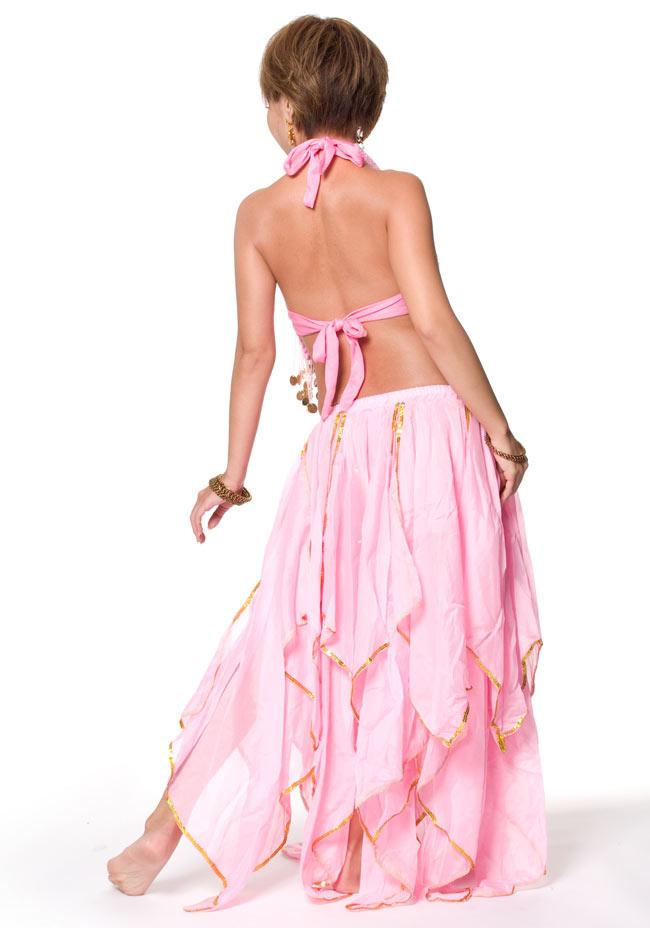 ベリーダンス フェアリーシフォンスカート 3 - 後ろはこのようになっております