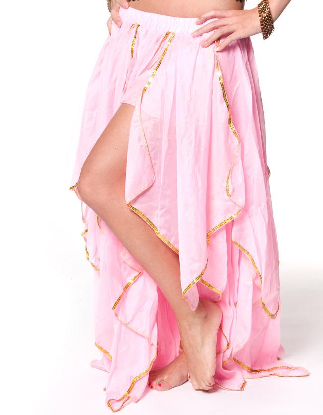 ベリーダンス フェアリーシフォンスカート 4 - 折り重ねられたシフォン生地の、綺麗なスカートです。