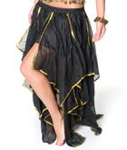 ベリーダンス フェアリーシフォンスカート-ブラック