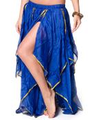 ベリーダンス フェアリーシフォンスカート-ブルー