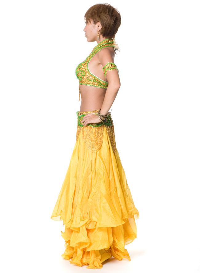 ベリーダンス シフォンフレアスカート 2 - 横からの写真です