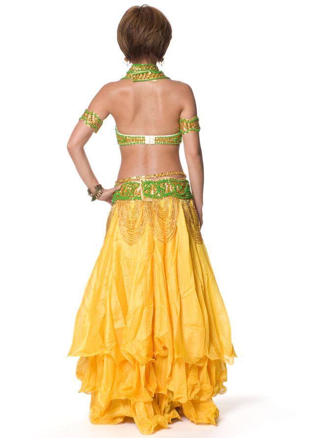 ベリーダンス シフォンフレアスカートの写真3 - 後ろはこのようになっております