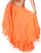 ベリーダンス シフォンフレアスカート-オレンジ