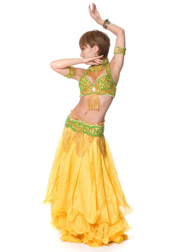 ベリーダンス シフォンフレアスカートの写真