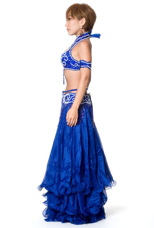 ベリーダンス衣装 ブラ&ベルトセット 2 - 横からの写真です